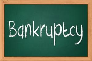 bankruptcy chalkboard